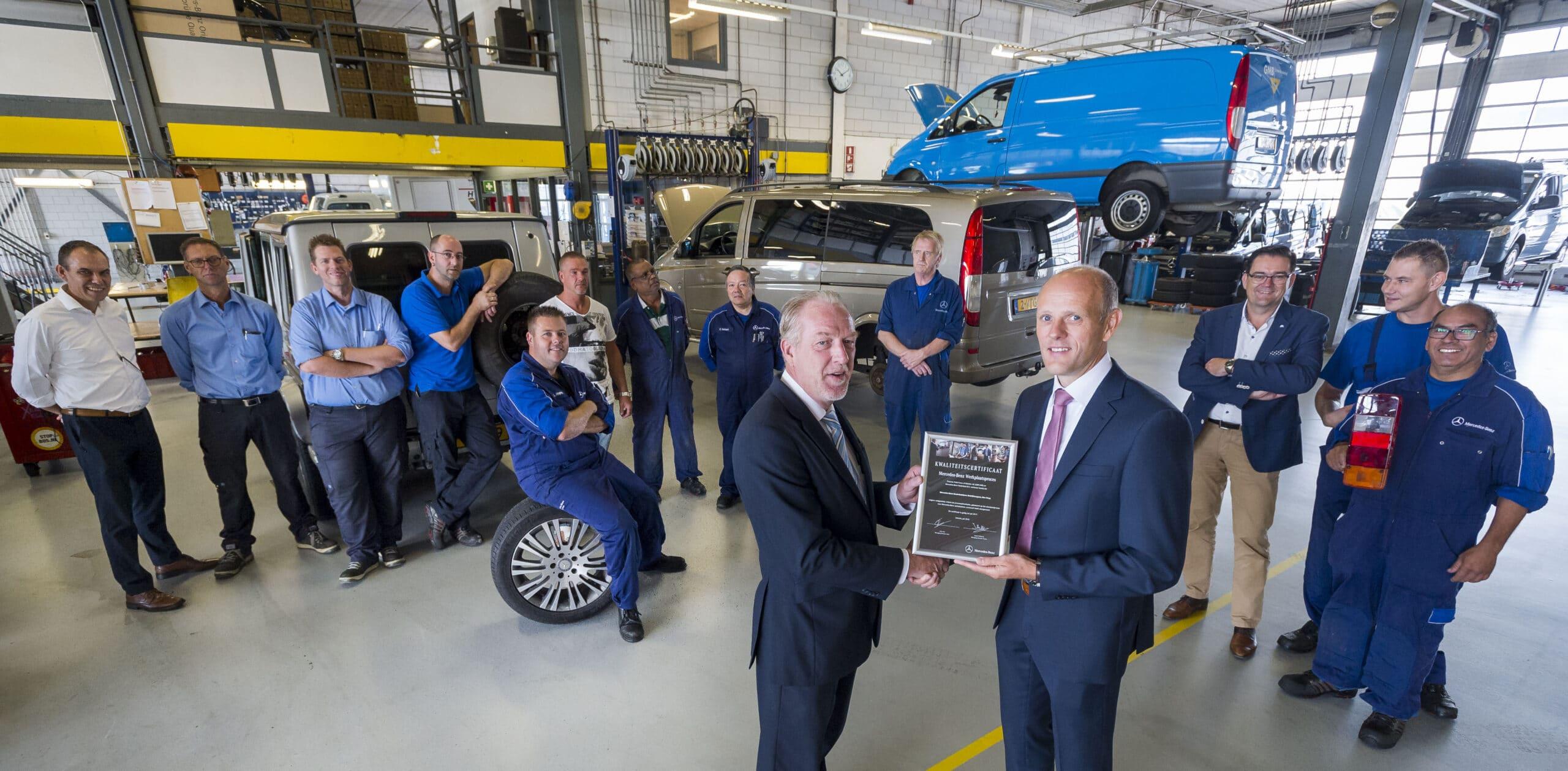 Kwaliteitscertificaat Voor Werkplaatsprocessen Bedrijfswagens Bij